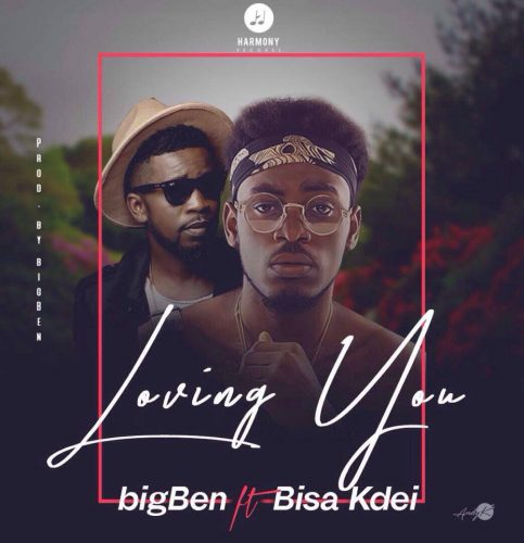 "Big Ben Ft Bisa Kdei 483x500 - Photo : bigBen Unveils Offical Cover Art For ""Loving You"" Featuring Bisa Kdei"