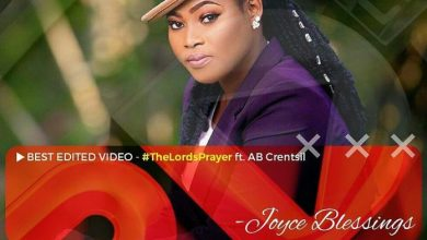 """WhatsApp Image 2018 07 04 at 5.05.57 PM 696x696 1 390x220 - Joyce Blessing's """"The Lord's Prayer"""" Lands A Nomination In 3rdTV Music Video Awards"""
