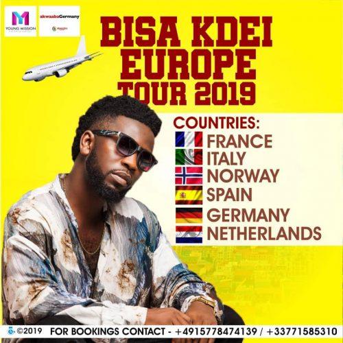 Bisa Kdei Tour 500x500 - Bisa Kdei kicks off Europe Tour in March