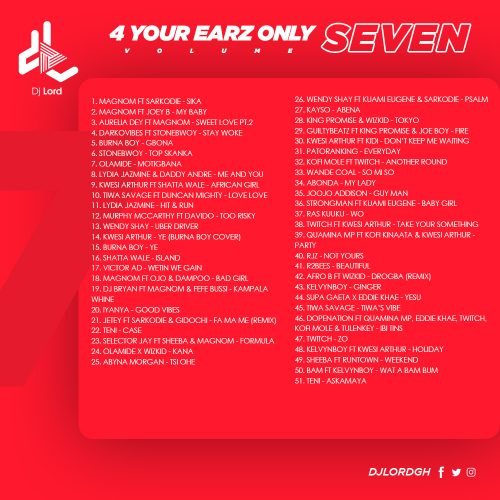 seven2 500x500 - DJ Lord - 4 Your Earz Only (Volume 7)