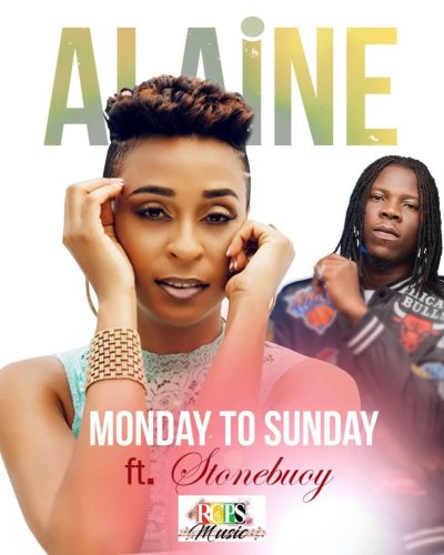 Alaine X Stonebwoy Cover 400x500 - Jamaican Singer, Alaine announces collabo with Stonebwoy