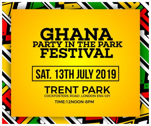 Ghana party in the park 500x417 - #GPITP - Mr Eazi, Kidi, King Promise, Kuami Eugene, more to perform