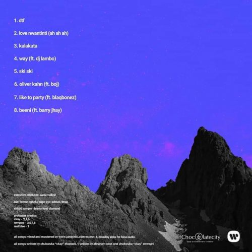 Ckay tracklist 500x500 - CKay - CKay The First (EP)