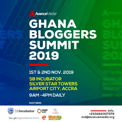 GH Bloggers Summit 500x500 - 2019 Ghana Bloggers Summit scheduled for 1st & 2nd November