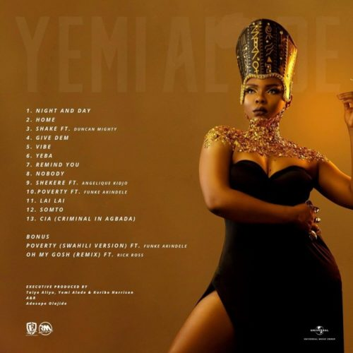 Yemi Alade Woman of Steel Tracklist  500x500 - Yemi Alade – Woman Of Steel (Full Album)