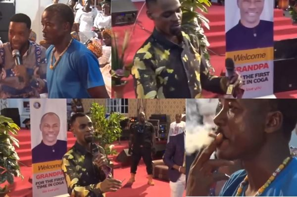 Obofour man smokes - Rev. Obofour instructs man to smoke Marijuana in Church