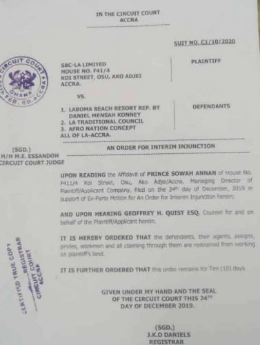1 1e9f773a39 377x500 - Court Grants Injunction On Afro Nation Concert Venue