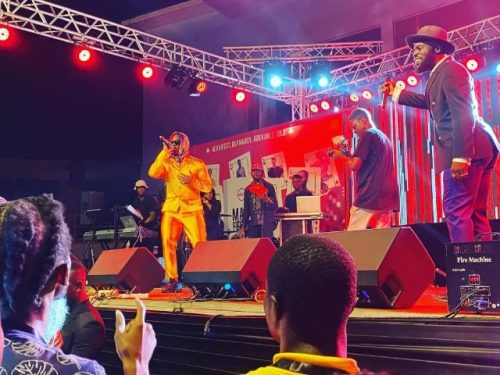 Moelogo and manifest 500x375 - 'You Blink, You Miss' - Burna Boy, M.anifest, Others Keep Patrons 'Thirsty' At Manifestivities