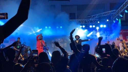 burna boy and manifest 500x281 - 'You Blink, You Miss' - Burna Boy, M.anifest, Others Keep Patrons 'Thirsty' At Manifestivities