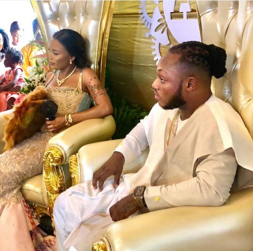 keche andrew and wife manager 500x496 - Keche Andrew weds his Record Label owner