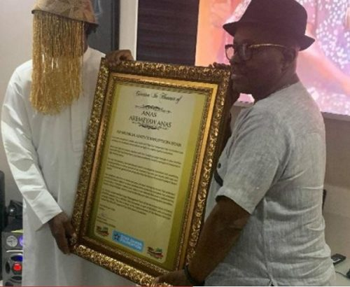 Musiga anas 500x410 - Anas honoured by MUSIGA as its 'Anti-Corruption Star'