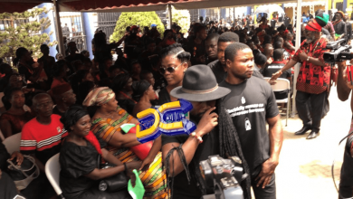 Photo of Ghanaian Celebs pay Tribute to Kofi B at One-week observation