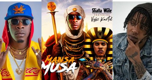 shatta wale and Vybz 500x263 - Shatta Wale set to drop New song, 'Mansa Musa' featuring Vybz Kartel