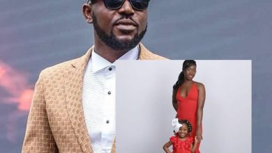 Photo of Yaa Pono shares adorable Vals Day Photo of his Wife and Daughter