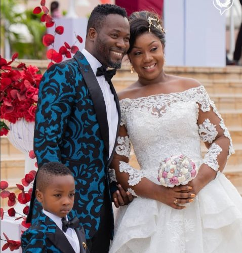 adjetey anang and wife 478x500 - Ghanaian actor, Adjetey Anang Marks 13 Years of Marriage