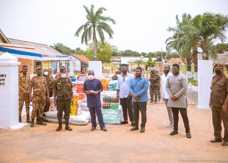 Shatta capo donation 2 - Photos: Shatta Capo, father of Shatta Wale makes Donation To the James Camp Prison