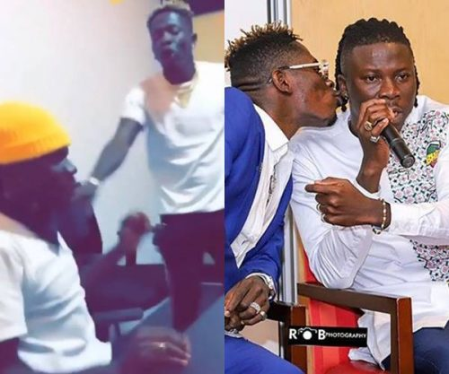 stonebwoy shatta rgue 500x417 - Video of Stonebwoy in heated argument with Shatta Wale pops up