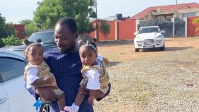 Photo of Funny Face reunites with His twins after sending threats to His Baby Mama
