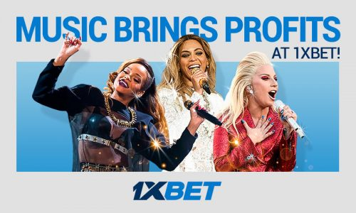 Music profits 800x480 3 500x300 - Your Music and Stars Knowledge Can Provide Big Wins at 1xBet
