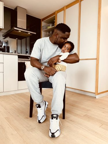 Sarkodie and Son Michael Jnr 375x500 - Photo: Sarkodie Finally Shows Off His Newborn Baby to celebrate Fathers Day