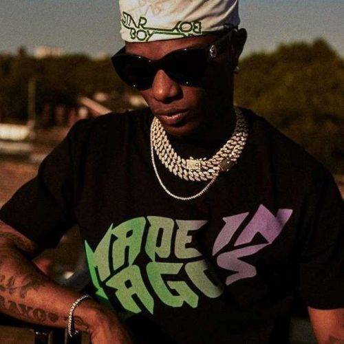 Wizkid made in lagos shirt 500x500 - Wizkid's M.I.L Live Streaming Performance Will Be On Airing On Youtube Originals