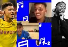 """Photo of Jadon Sancho introduces Omah Lay's """"Bad influence"""" to Yung Filly And Chunkz"""