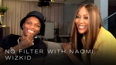 Wizkid and Naomi Campbell 390x220 - Wizkid Goes In-depth About His Life And Music Career With Naomi Campbell On No Filter